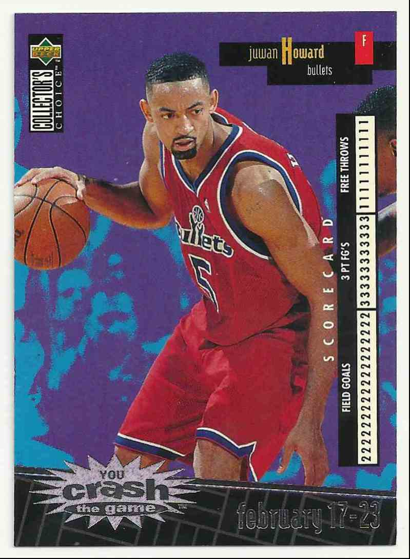 1996-97 Collector's Choice Crash The Game Scoring 2 Juwan Howard #C-29 card front image