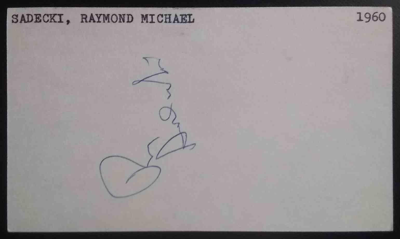 1960 3X5 Ray Sadecki card back image