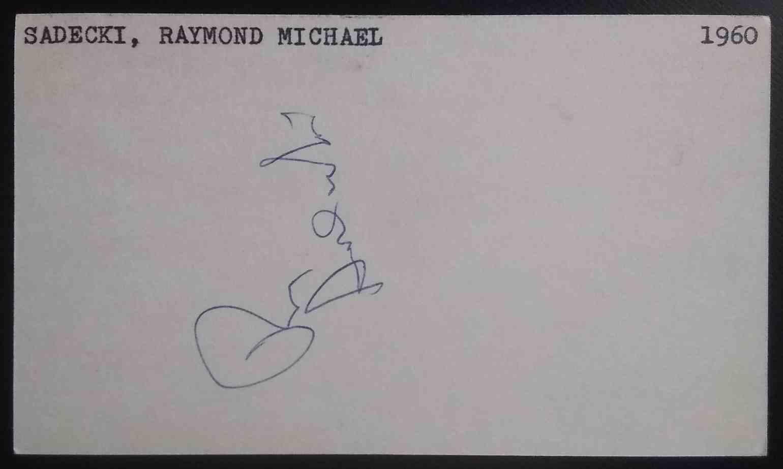 1960 3X5 Ray Sadecki card front image