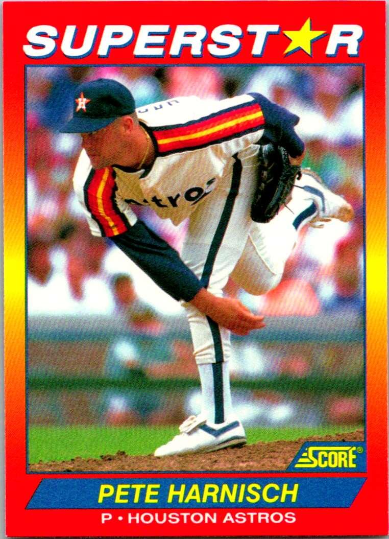 1992 Score 100 Superstars Pete Harnisch #12 card front image