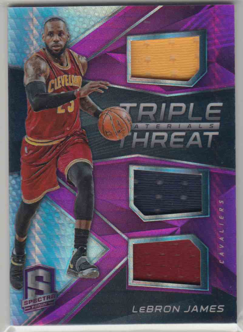 a71b041e463b 2016-17 Panini Spectra Triple Threat Materials Pink LeBron James  1 card  front image