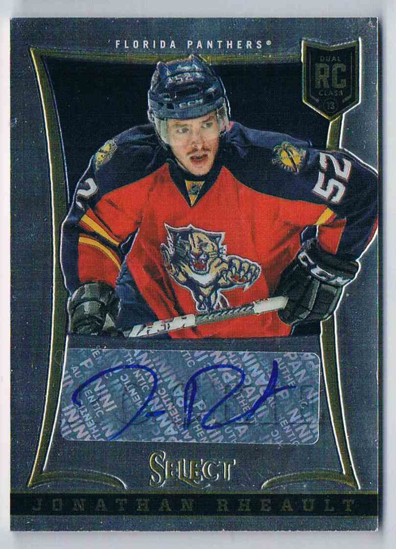 2013-14 Panini Select Rookie Autograph Jonathan Rheault (B) #210 card front image