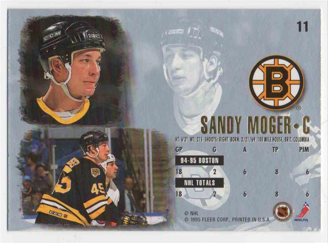 1995-96 Ultra Sandy Moger #11 card back image