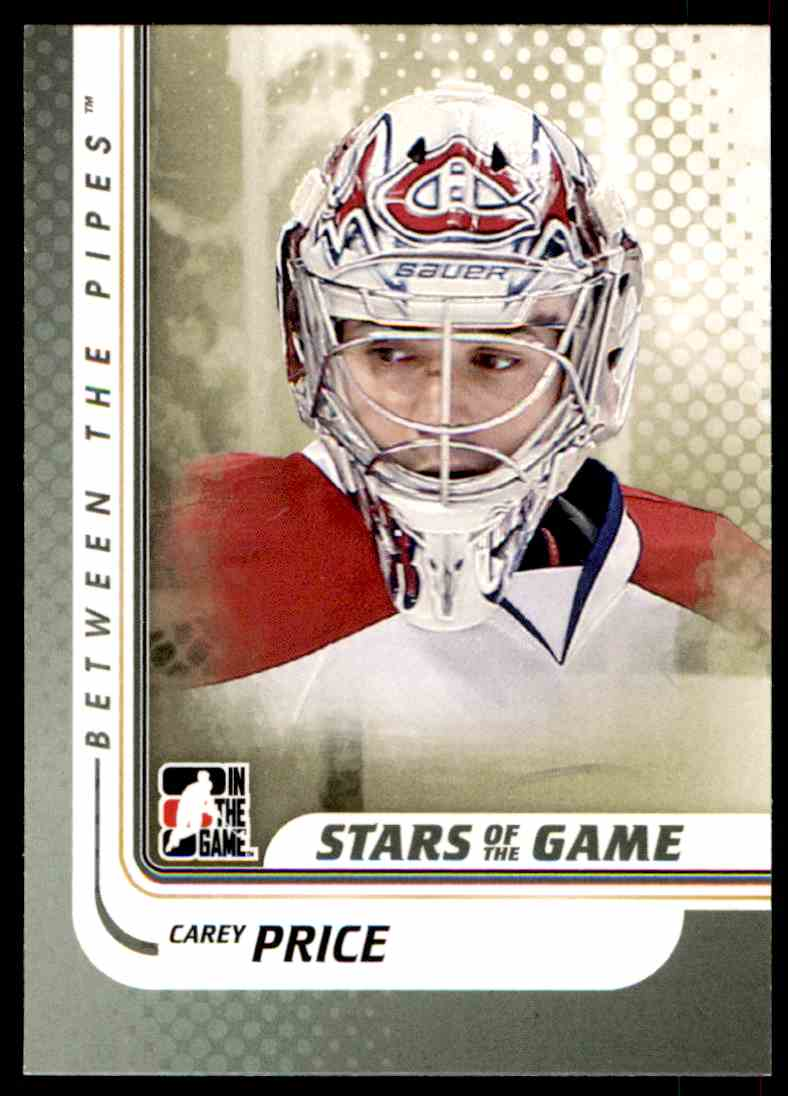 2010-11 In The Game Between The Pipes Carey Price #94 card front image