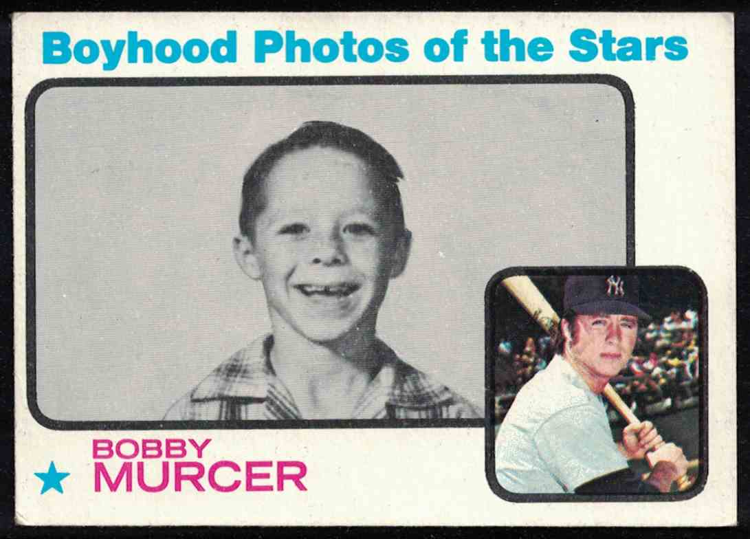 1973 Topps Bobby Murcer Boyhood Photos EX-MT #343 card front image