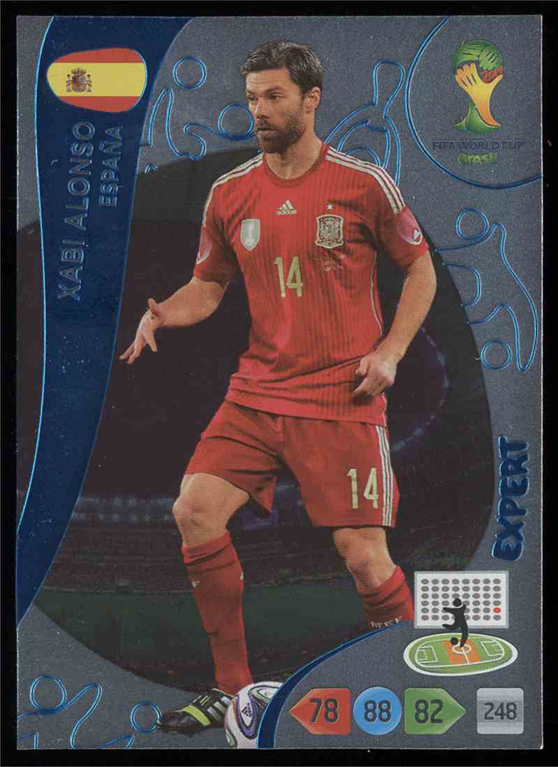 TOPPS MATCH ATTAX  BRAZIL 2014 WORLD CUP #210-SPAIN /& REAL MADRID-XABI ALONSO