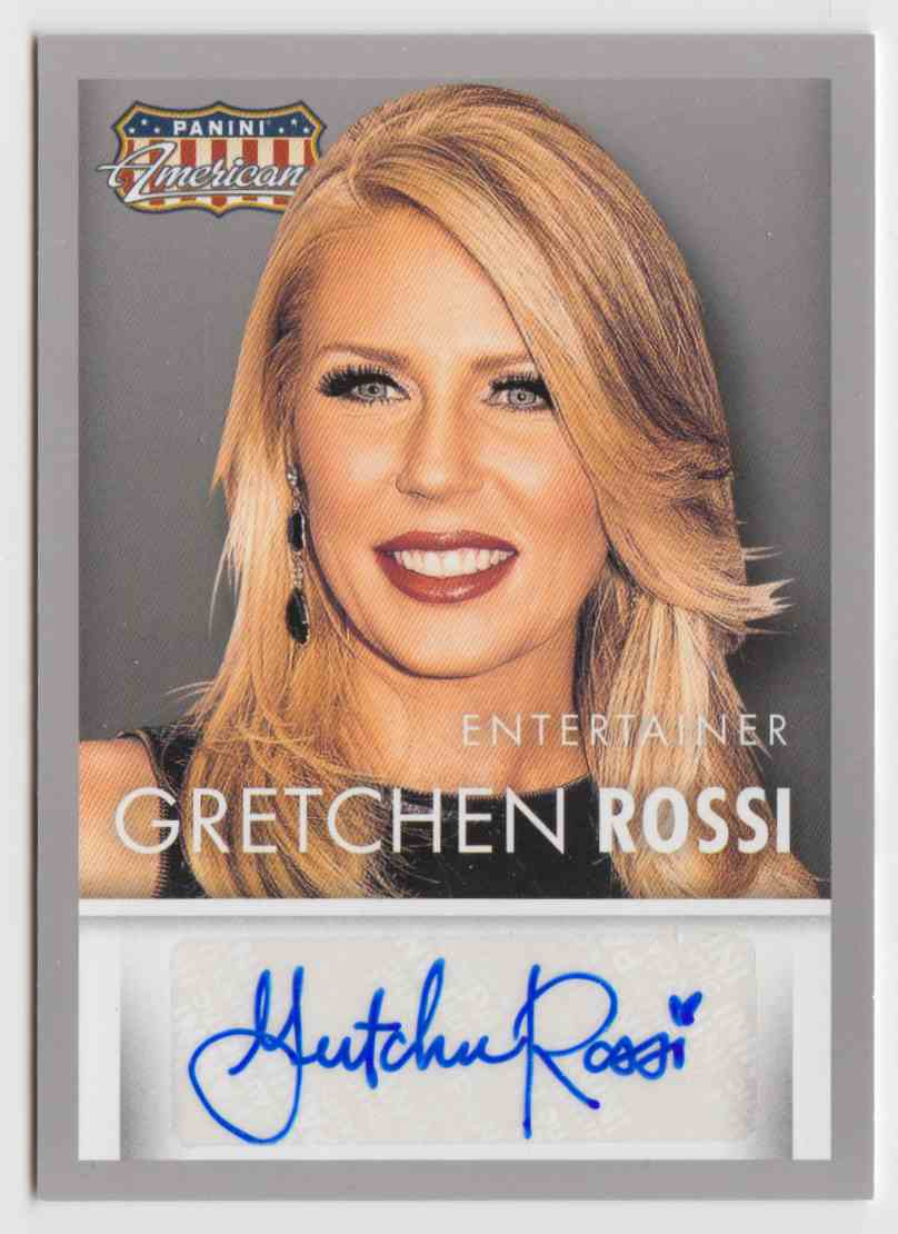 2015 Panini Americana Signatures Gretchen Rossi #S-GR card front image