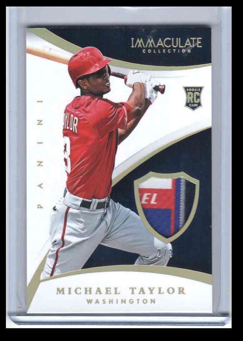 2015 Panini Immaculate Michael Taylor card front image