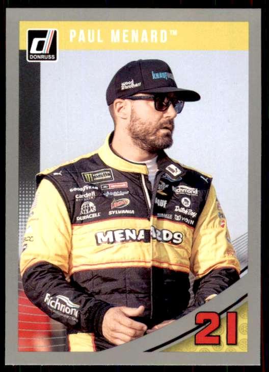 2019 Panini Donruss Racing Silver Paul Menard #77 card front image