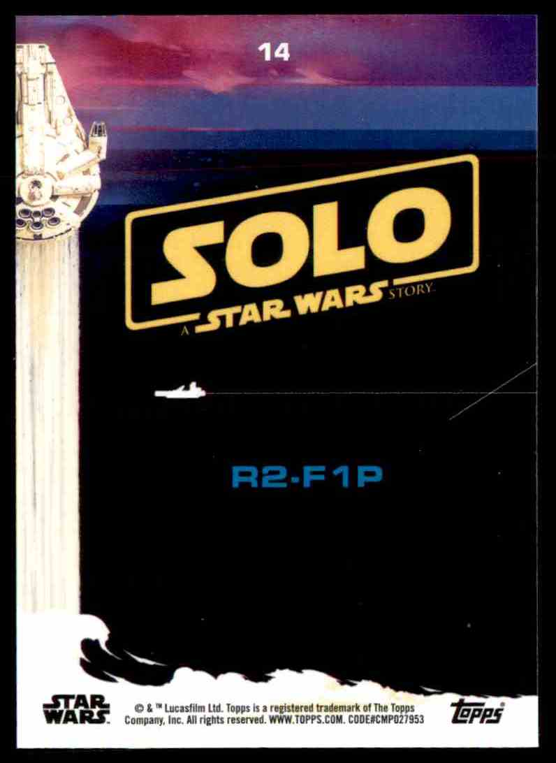 2018 Topps Solo: A Star Wars Story R2-F1p #14 card back image