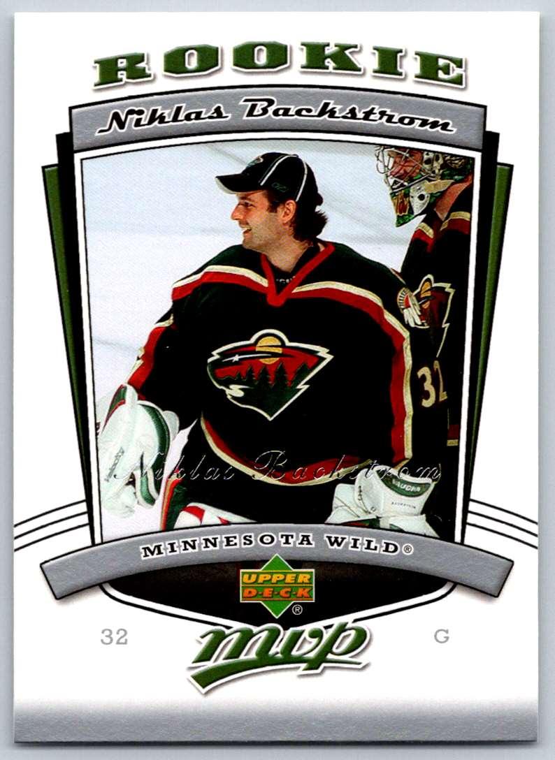 2006-07 Upper Deck MVP Niklas Backstrom #318 card front image