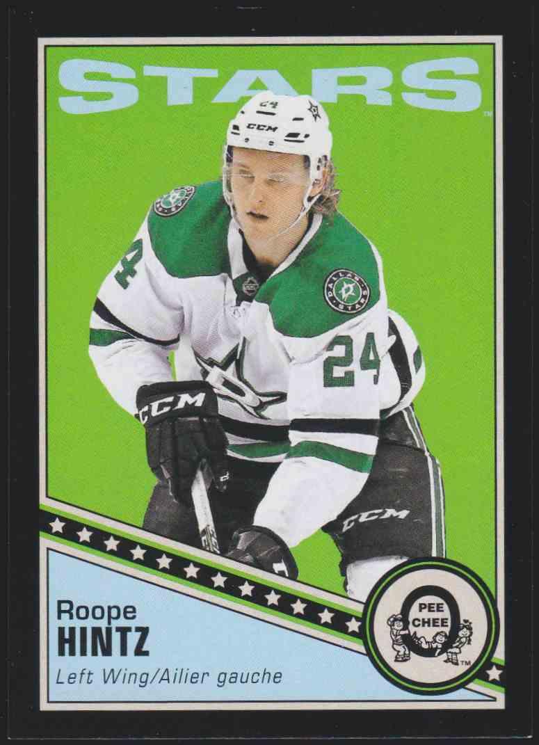 2019-20 Upper Deck Hockey O-Pee-Chee Roope Hintz - Black Retro #431 card front image