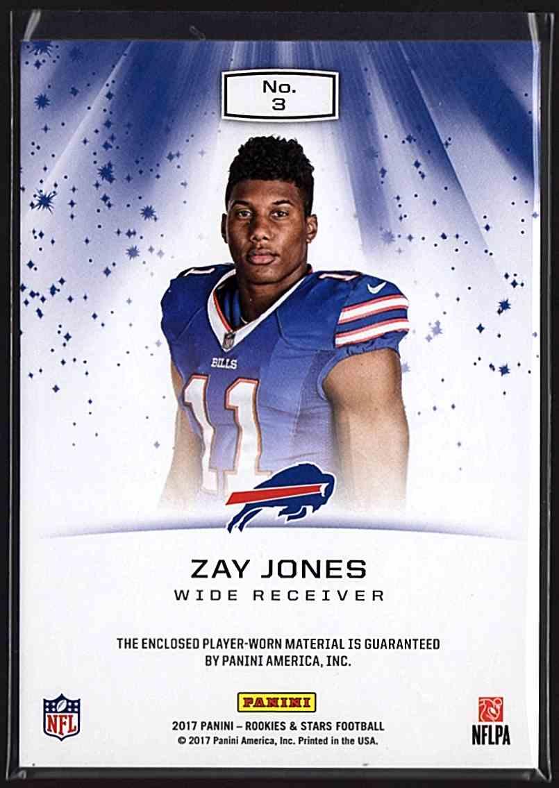 2017 Rookies And Stars Star Search Jerseys Zay Jones #3 card back image