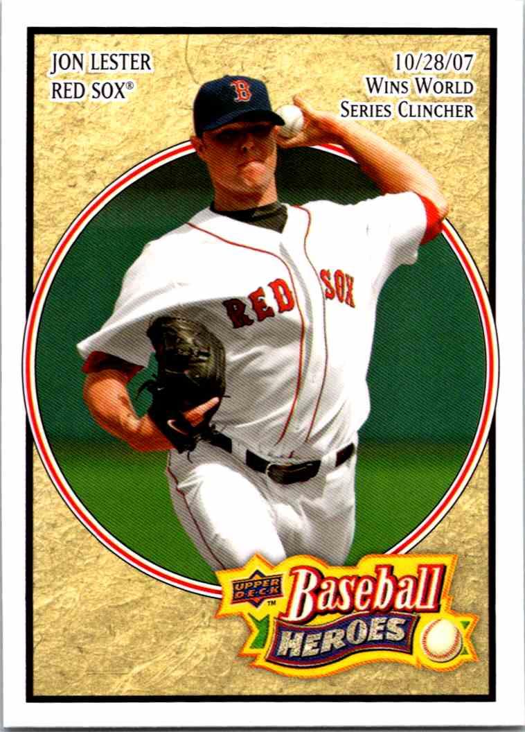 2008 Upper Deck Baseball Heroes Jon Lester 92 On Kronozio
