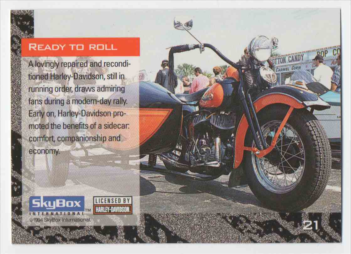 1994 Skybox Harley Davidson Ready To Roll #21 card back image