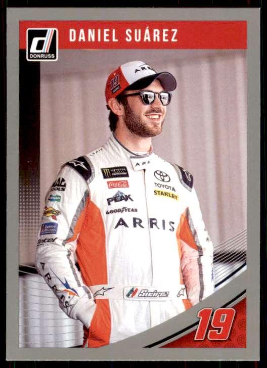 2019 Panini Donruss Racing Silver NASCAR Daniel Suarez #42 card front image