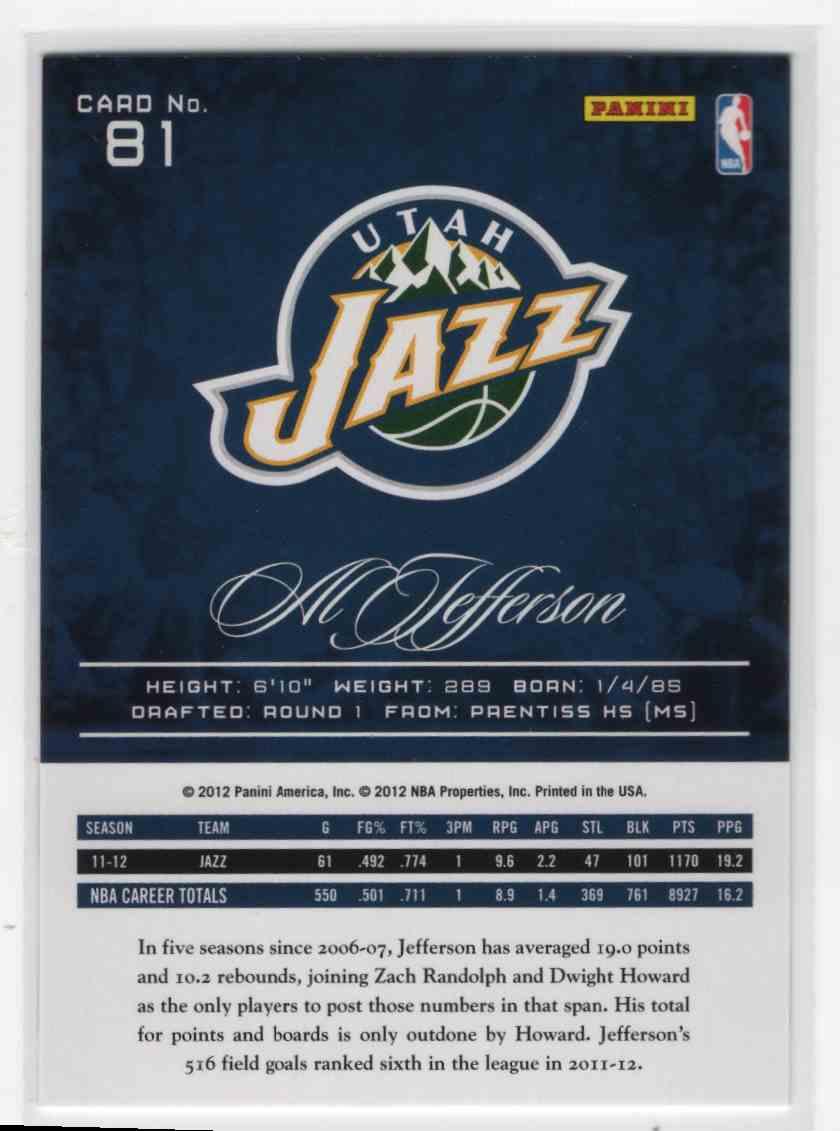 2012-13 Prestige Al Jefferson #81 on Kronozio