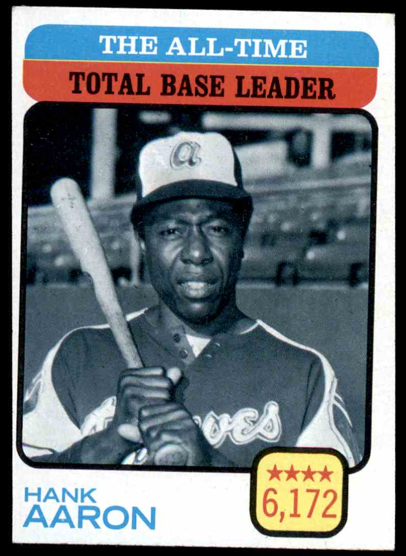 1973 Topps Hank Aaron All Time Total Base Leader 473 On