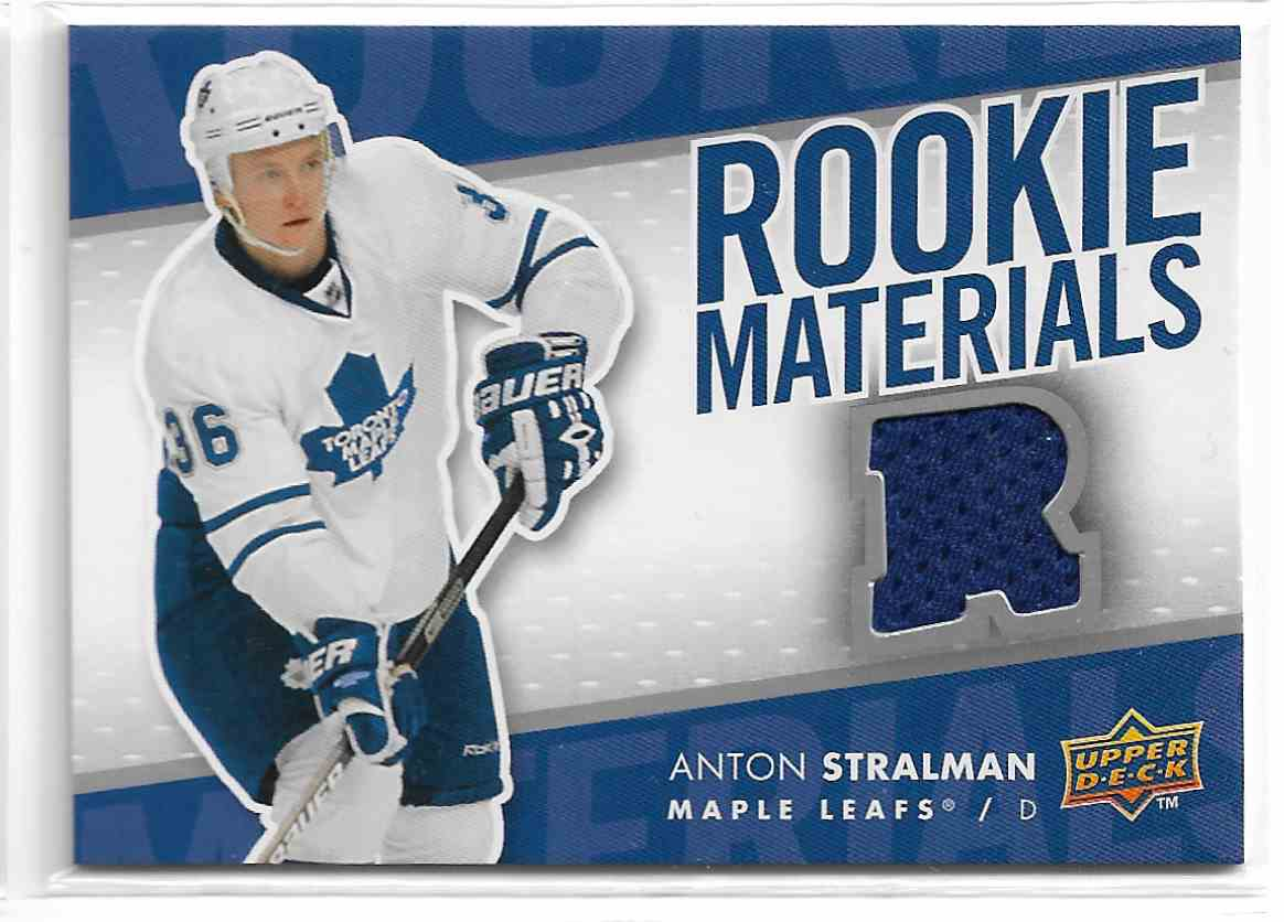 2007-08 Upper Deck Rookie Materials Anton Stralman #RM-AS card front image