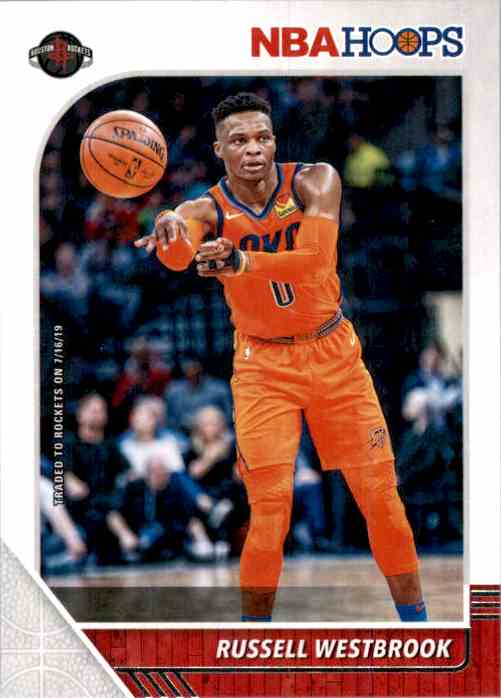 2019-20 Hoops Russell Westbrook #129 card front image