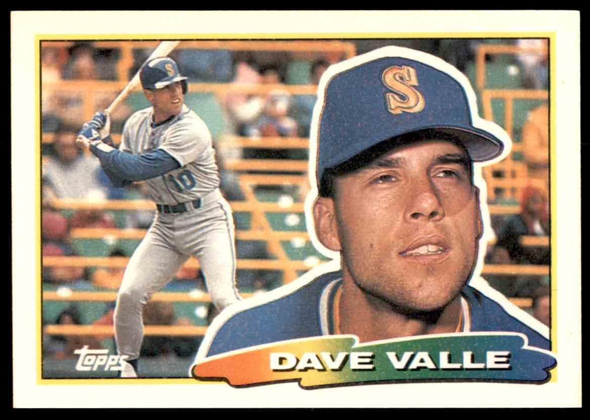 1988 Topps Big Baseball Dave Valle 210 On Kronozio