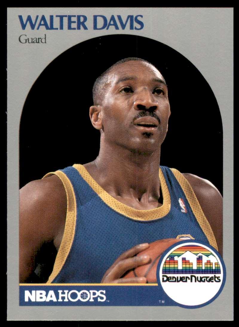 1990-91 Hoops Walter Davis #93 card front image