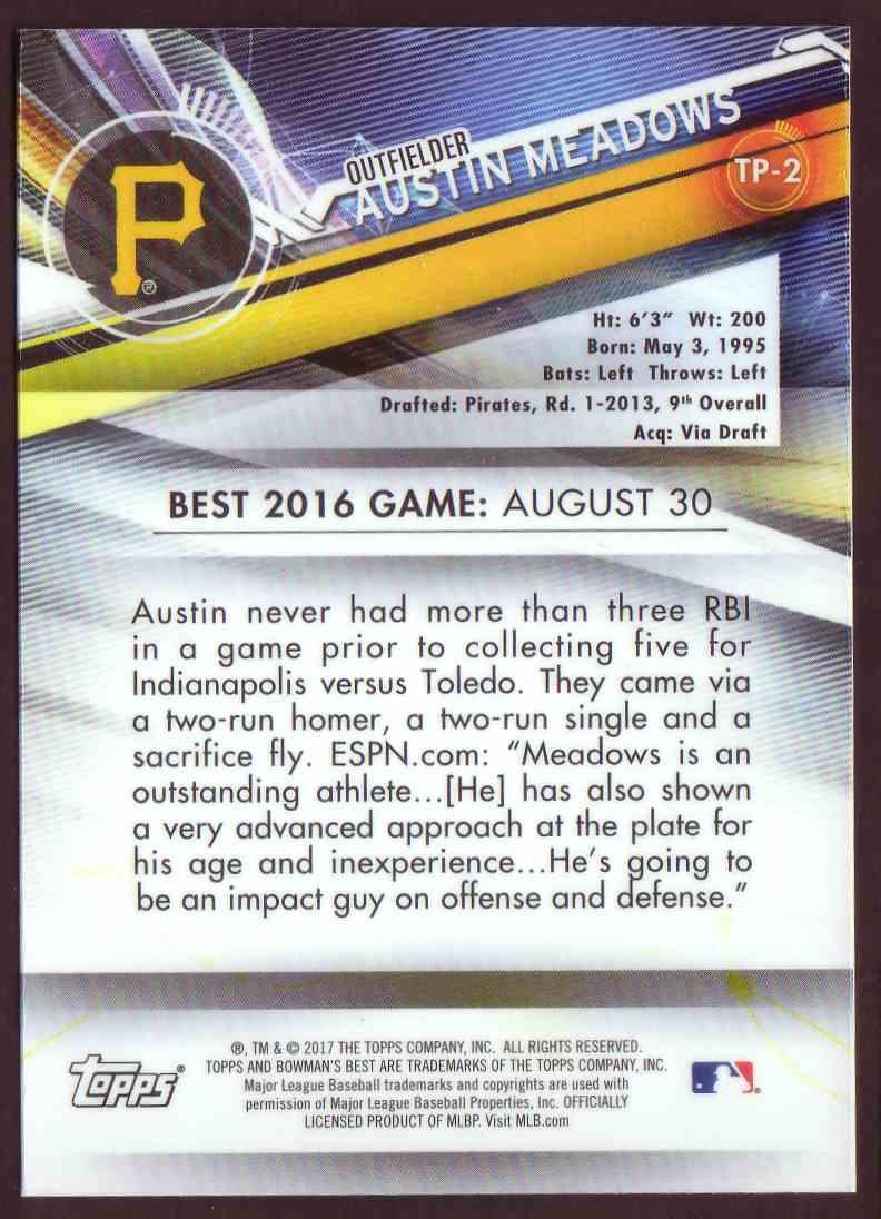 2017 Bowman's Best Top Prospects Austin Meadows #TP-2 card back image