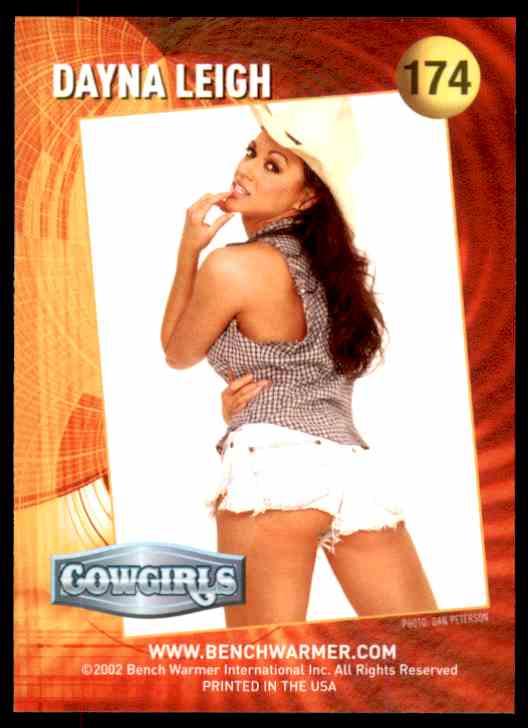 2002 Bench Warmer Dayna Leigh/Cowgirls #174 card back image