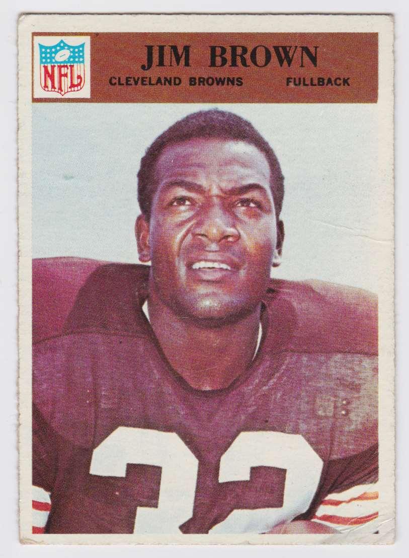 1966 Pcgc Jim Brown #41 card front image