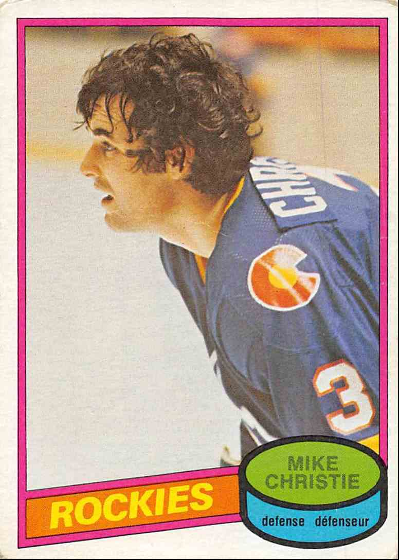 1980-81 O-Pee-Chee Mike Christie #358 card front image