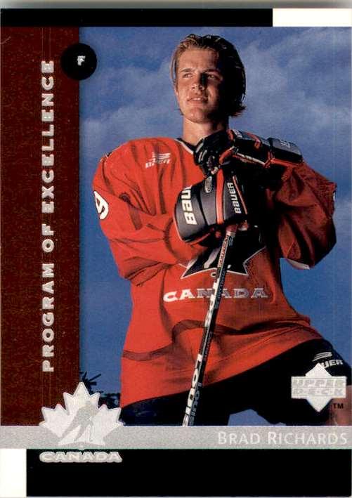 1997-98 Upper Deck Brad Richards RC #418 card front image
