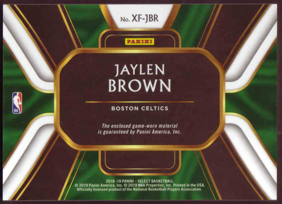 2018-19 Panini Select X-Factor Jatlen Brown #XF-JBR card back image