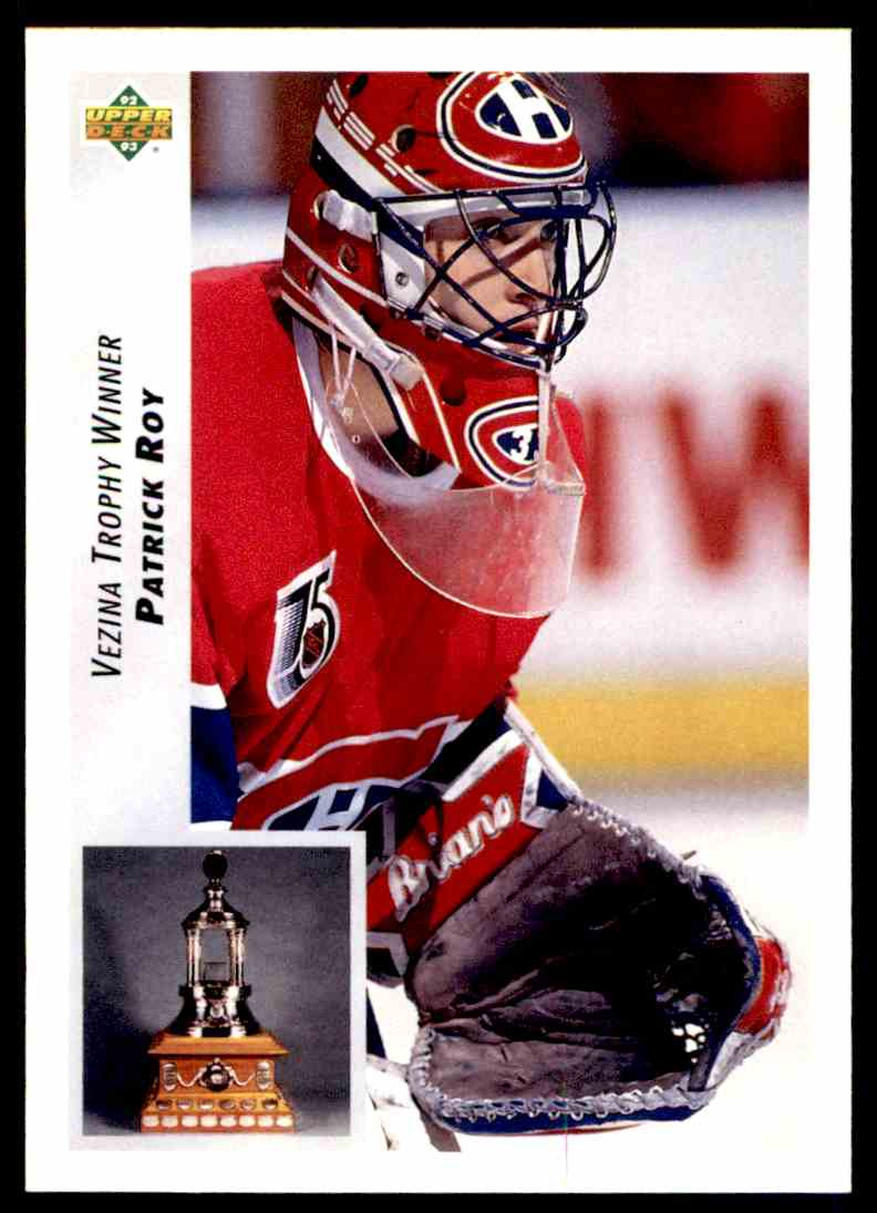 1992-93 Upper Deck Patrick Roy #438 card front image