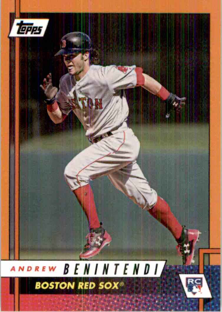 2017 Topps Rookie Class Orange Andrew Benintendi card front image