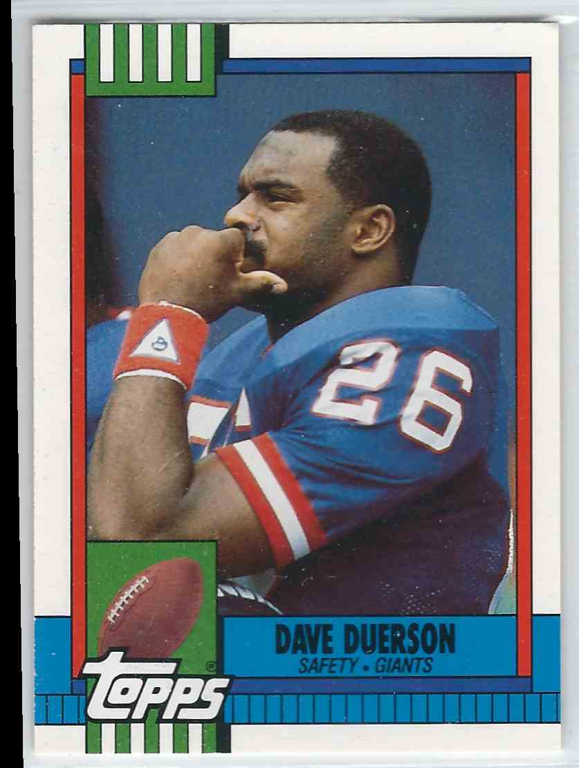 1990 Topps Traded Dave Duerson #61T card front image