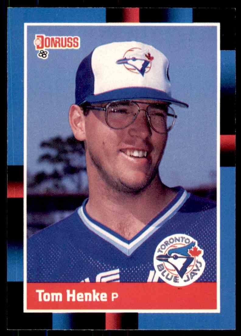 1988 Donruss Baseball Tom Henke 490 On Kronozio