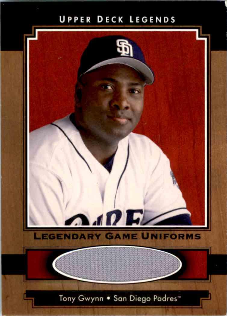 2001 Upper Deck Legends Legendary Game Uniforms Tony Gwynn #J-TG card front image