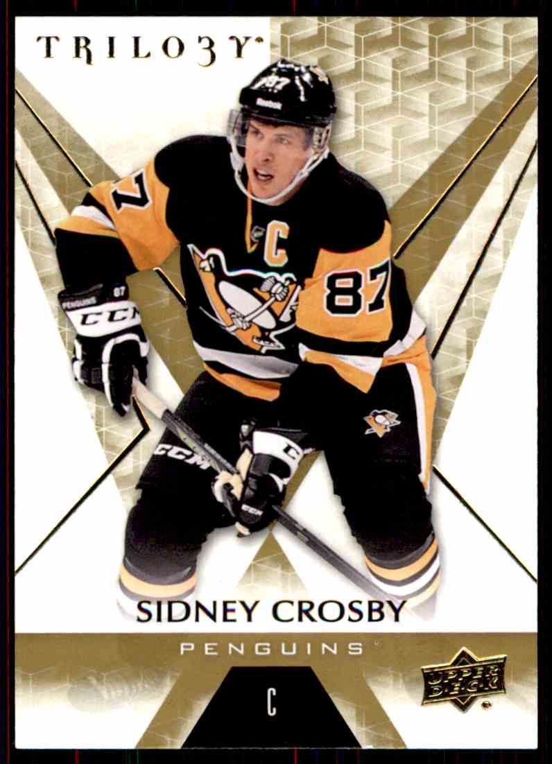 2016-17 Upper Deck Trilogy Sidney Crosby #50 card front image