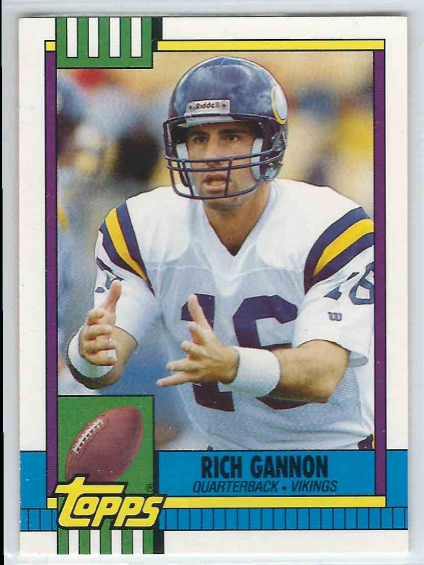 1990 Topps Traded Rich Gannon #70T card front image