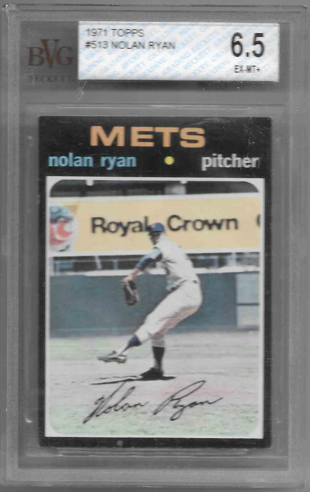 1971 Topps Nolan Ryan #513 card front image