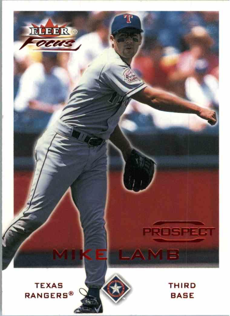 2001 Fleer Focus Mike Lamb #209 card front image