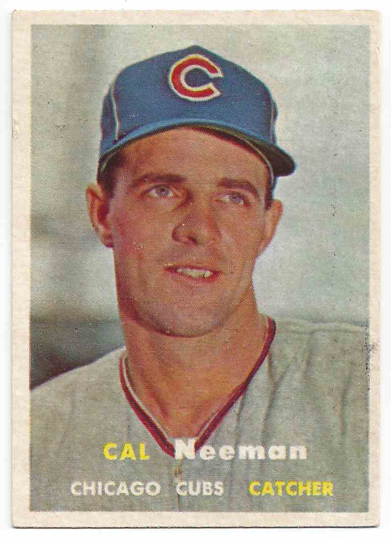 1957 Topps Cal Neeman #353 card front image
