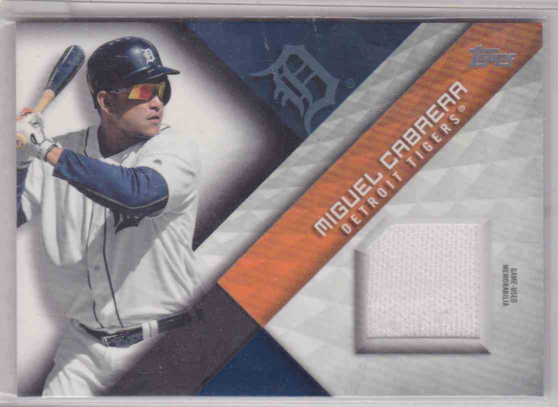 2018 Topps Series 2 Major League Material Miguel Cabrera #MLM-MA card front image