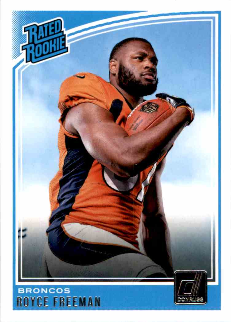 2018 Donruss Rated Rookie Royce Freeman #323 card front image