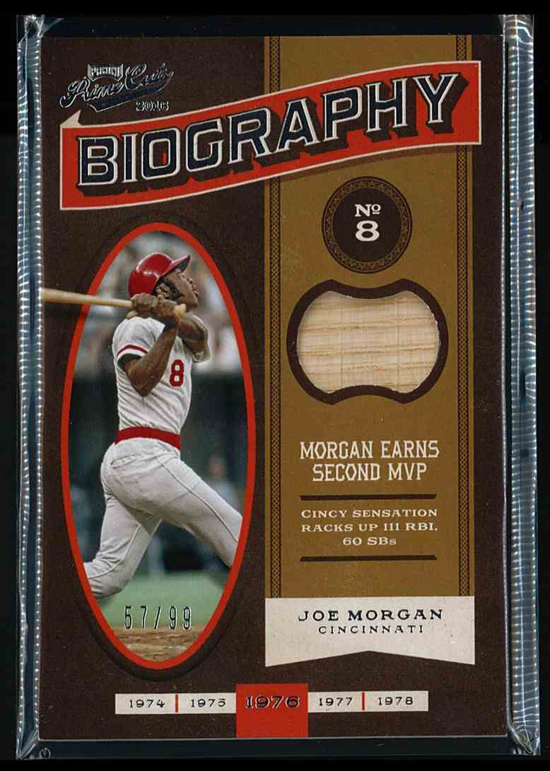 2016 Panini Prime Cuts Biography Joe Morgan card back image