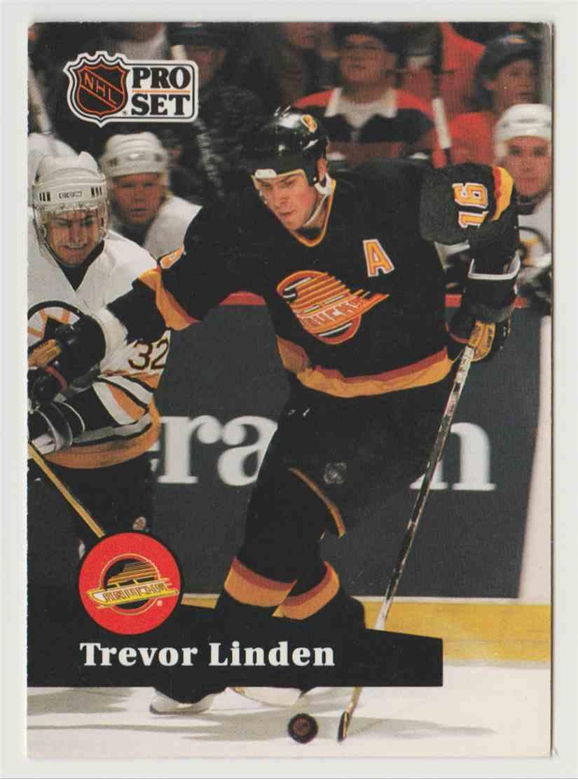 01c7f33c630 1991-92 Pro Set Trevor Linden  236 card front image