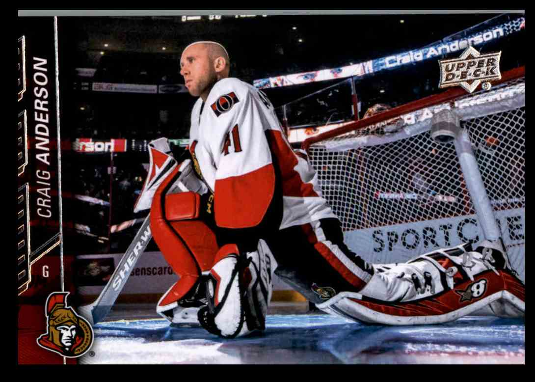 2015 16 Upper Deck Series 2 Craig Anderson 387 On Kronozio