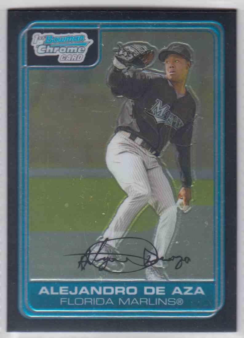 2006 Bowman Chrome Prospects Alejandro De Aza #BC8
