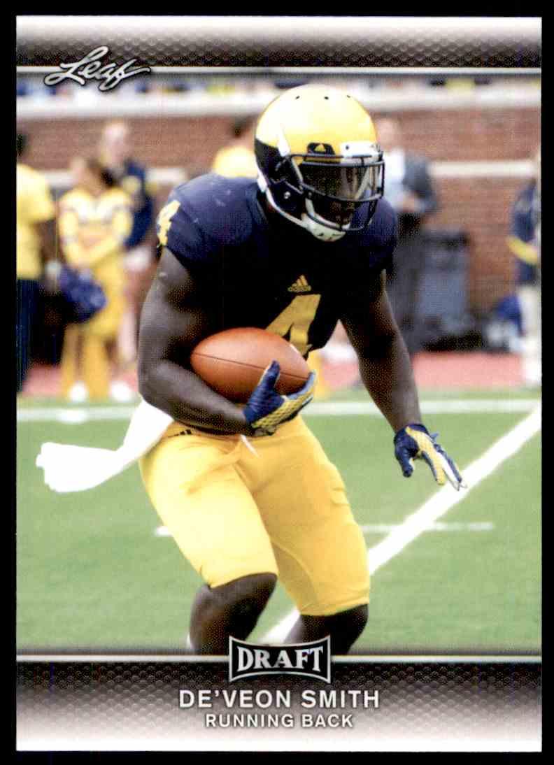 2017 Leaf Draft De'veon Smith #23 card front image
