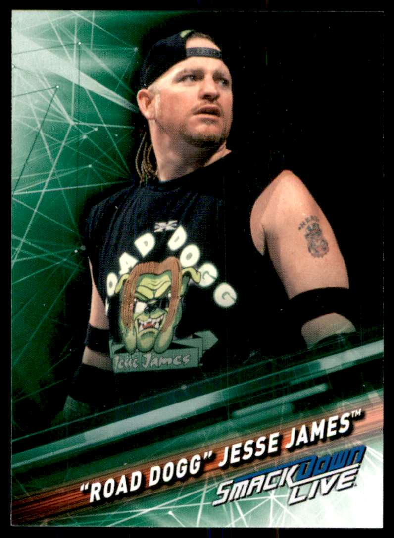 """2019 Topps Wwe SmackDown Live Green """"Road Dogg"""" Jesse James #84 card front image"""